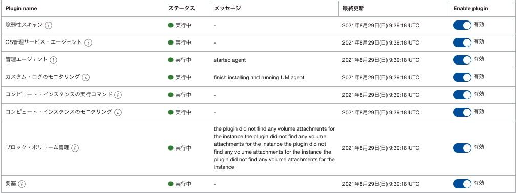 oracle cloud agent plugin managemet